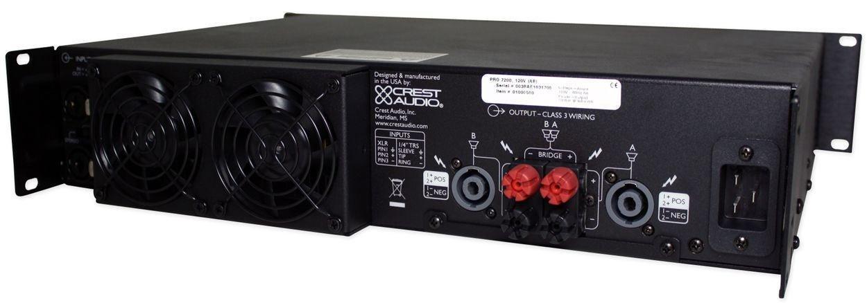 Amazon.com: Crest Audio Pro7200 3400 Watt Professional Power Amplifier PRO 7200: Musical Instruments