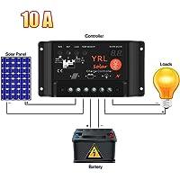Panel regulador de carga solar con salida directa, protección de pararrayos y resistente al agua