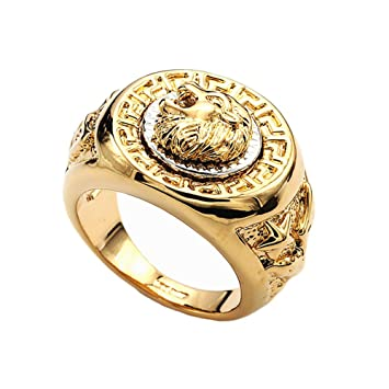 AllRight Lion Head Rings Cool Rings For Men Men S Fashion Jewelry