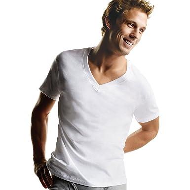 d38d2a2f21b Hanes Men's V-Neck T-Shirts - White at Amazon Men's Clothing store: