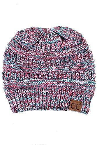 ScarvesMe Unisex Three Tone CC Beanie Winter Hand Knit Beanie Hat (19) ()
