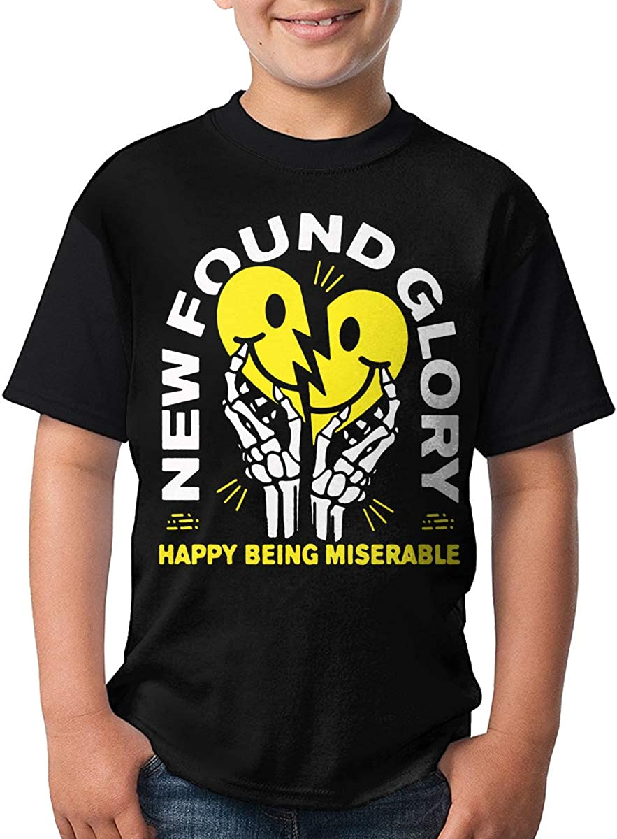 JustinLSullivan New Found Glory T Shirt Youth Shirt Boys Teenager Round Neck Short Sleeve Tee