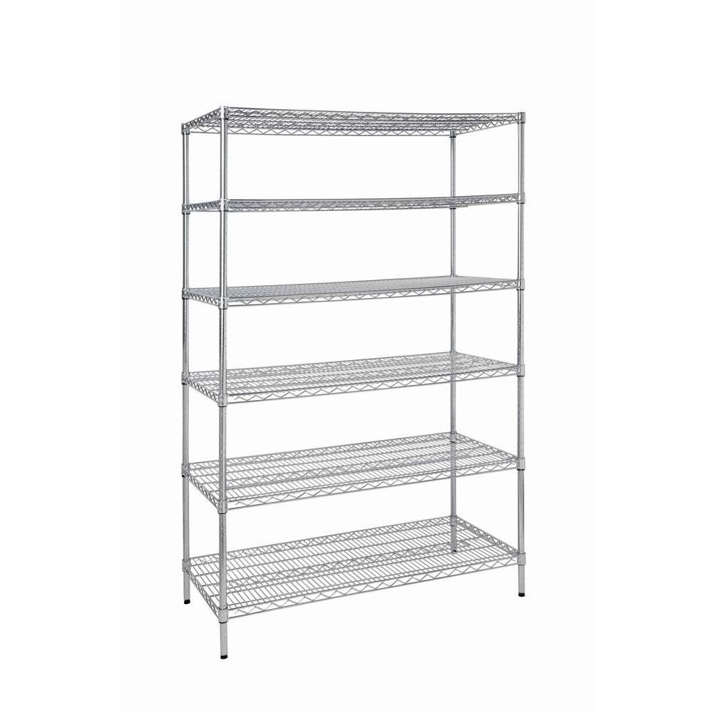 HDX 6-Shelf Steel Commercial Shelving Unit | 24 in. D x 48 in. x 72 in. H by HDX Product