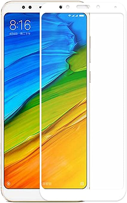 GerTong Xiaomi Redmi 5 Plus - Protector de pantalla de cristal templado para Redmi 5 Plus de 5,99 pulgadas (no Xiaomi Mi5 Plus) antiarañazos 2.5D (color blanco): Amazon.es: Electrónica