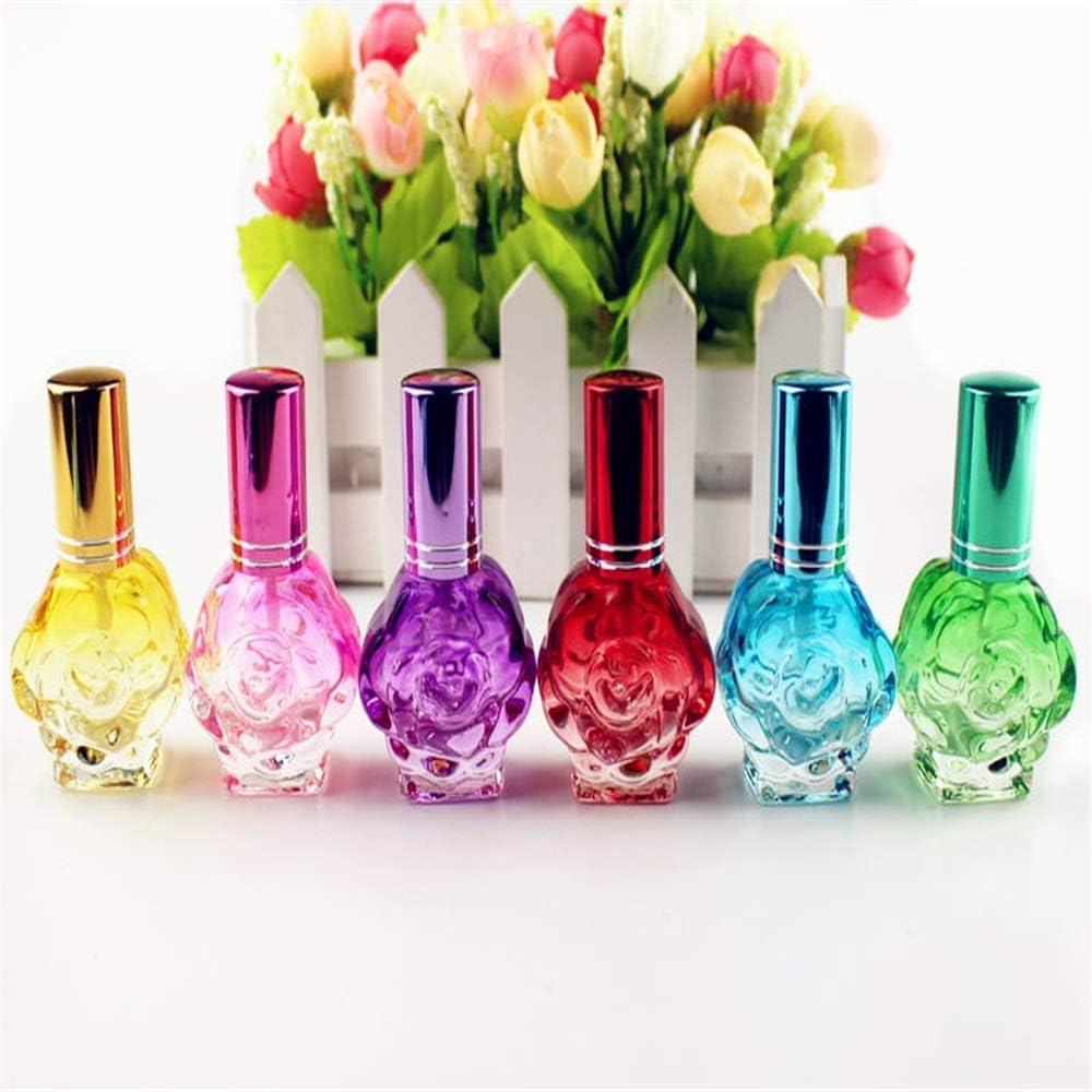 10ml Perfume Glass Bottles Rose Shaped