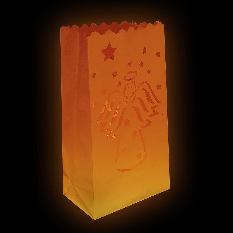 Paper Luminary Candle Bags Tealight Lantern Light Wedding Xmas Christmas Party