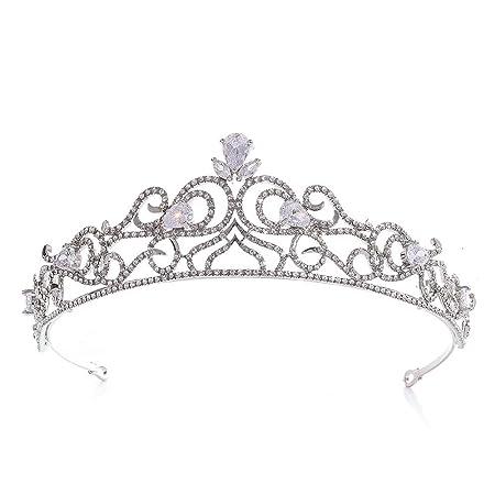 Liuxiaomiao Coronas para Mujeres Crystal Rhinestone Prom ...