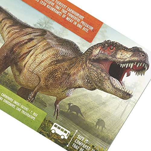 Prextex Realistic Looking 7'' Dinosaurs Pack of 12 Large Plastic Assorted Dinosaur Figures With Dinosaur Book by Prextex (Image #6)