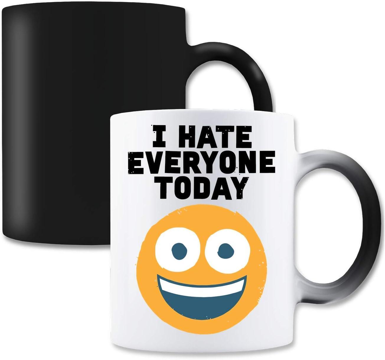 LukeTee I Hate Everyone Today Magische Tee-Kaffeetasse