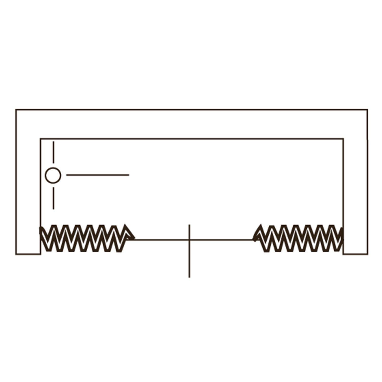 PVC Badewannefaltwand 140 CM mit zentraler /Öffnung Mod Nina