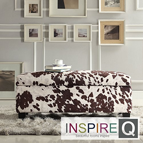 Metro Shop INSPIRE Q Sauganash Cowhide Print Lift Top Storage Bench
