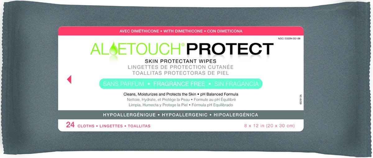Amazon.com: Medline Aloetouch Protect DIMETHICONE Wipes Unscented - Case of 24 Packs: Health & Personal Care