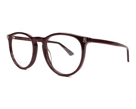 0c98821e60d399 Gucci - Monture de lunettes - Femme Rouge bordeaux 50 mm  Amazon.fr ...