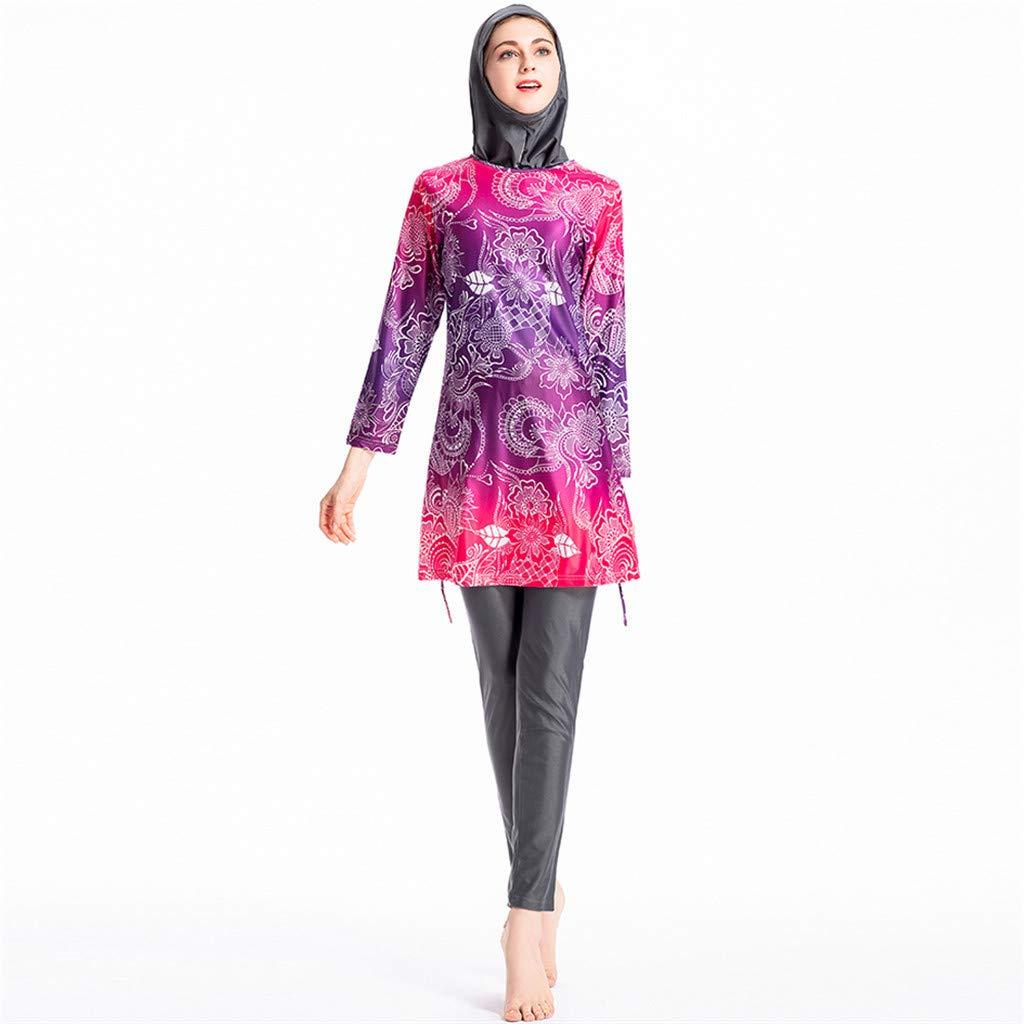 Pingtr - Muslimische Sonnenschutz Badebekleidung - Damenbadebekleidung + Hose + Hijab