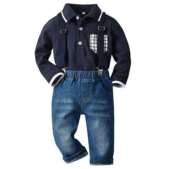 Lenfesh Ropa para niños Blanco Azul Marino Niños pequeños ...