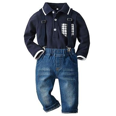 Lenfesh Ropa para niños Blanco Azul Marino Niños pequeños Bebés de ...
