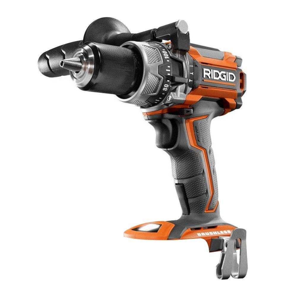 Ridgid R86116 18-Volt Lithium-Ion Cordless Brushless 1/2in Hammer Drill (Tool Only - Battery and Charger NOT Included) (Renewed) by Ridgid