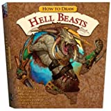 How to Draw Hell Beasts Kit: Project Book, Drawing Pad, Eraser, Pencils, Blending Stump, Sandpaper Block, Monster Trading Cards