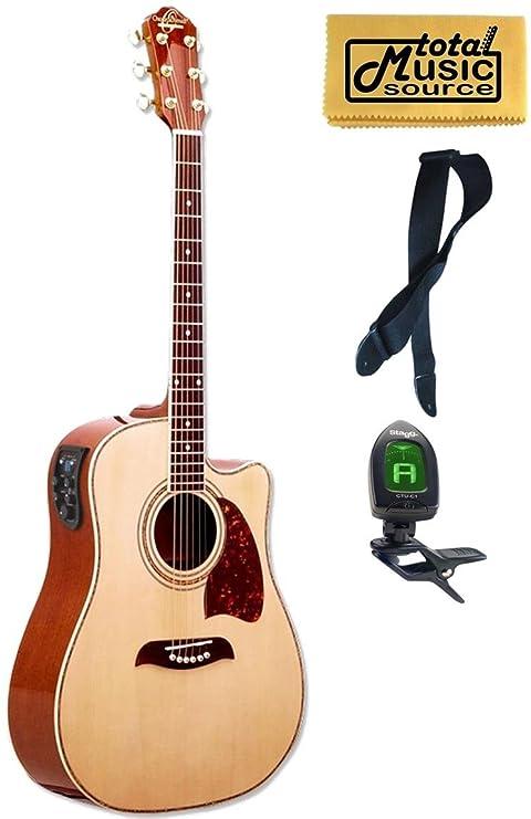 og2ce Oscar Schmidt guitarra acústica/eléctrica, Washburn, Dreadnought, sintonizador, 4 EQ