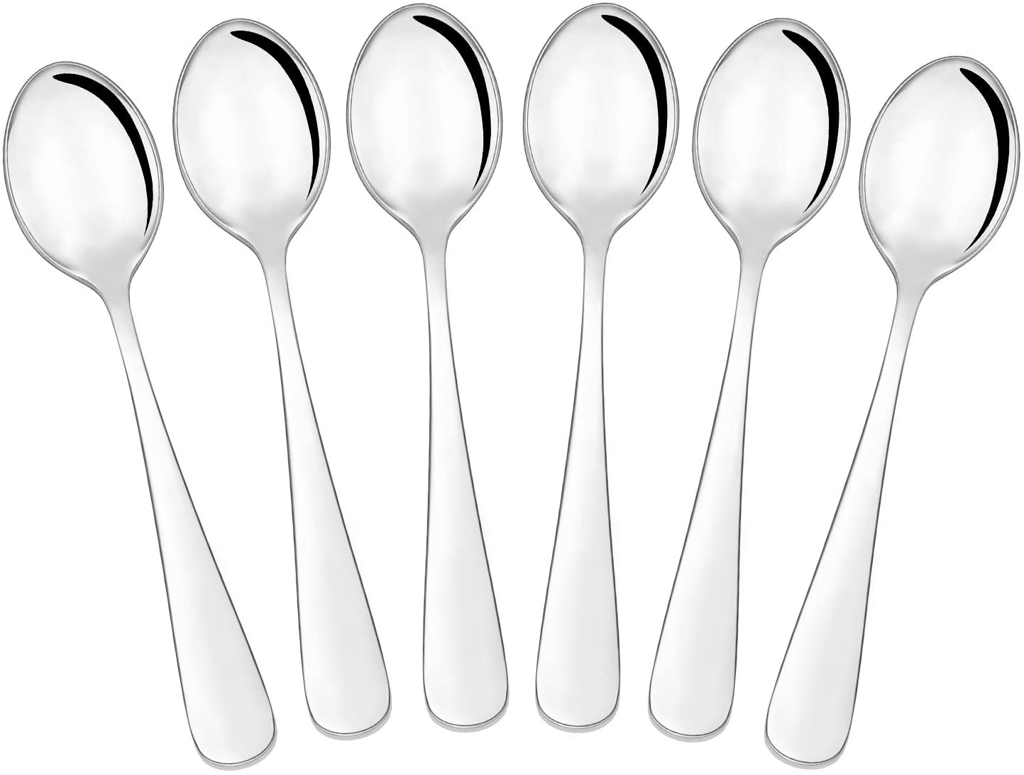 Hiware 6-Piece Demitasse Espresso Spoons, 4 Inches Stainless Steel Mini Coffee Spoons