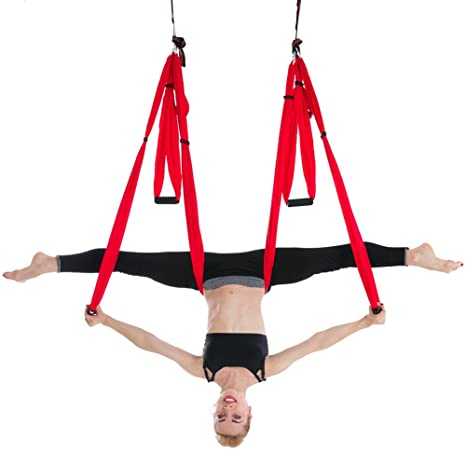TKFY Yoga Hamaca Anti-Gravedad Yoga Swing Sling Antena Yoga ...