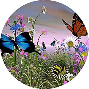 Butterflies Round Mousepad Mouse Pad Great Gift Idea by icecream design
