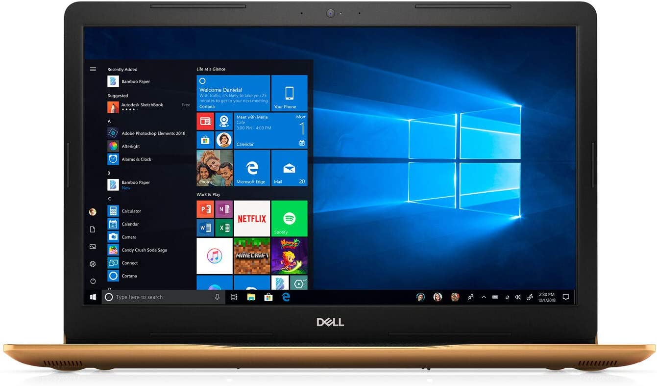 "Dell Inspiron 17 3780 17.3"" HD+ LED-Backlit Touch Screen Laptop, Intel Pentium Gold 5405U, 8GB DDR4, 1TB HDD, HDMI, Webcam, 802.11ac, Bluetooth, DVD Burner, Windows 10"