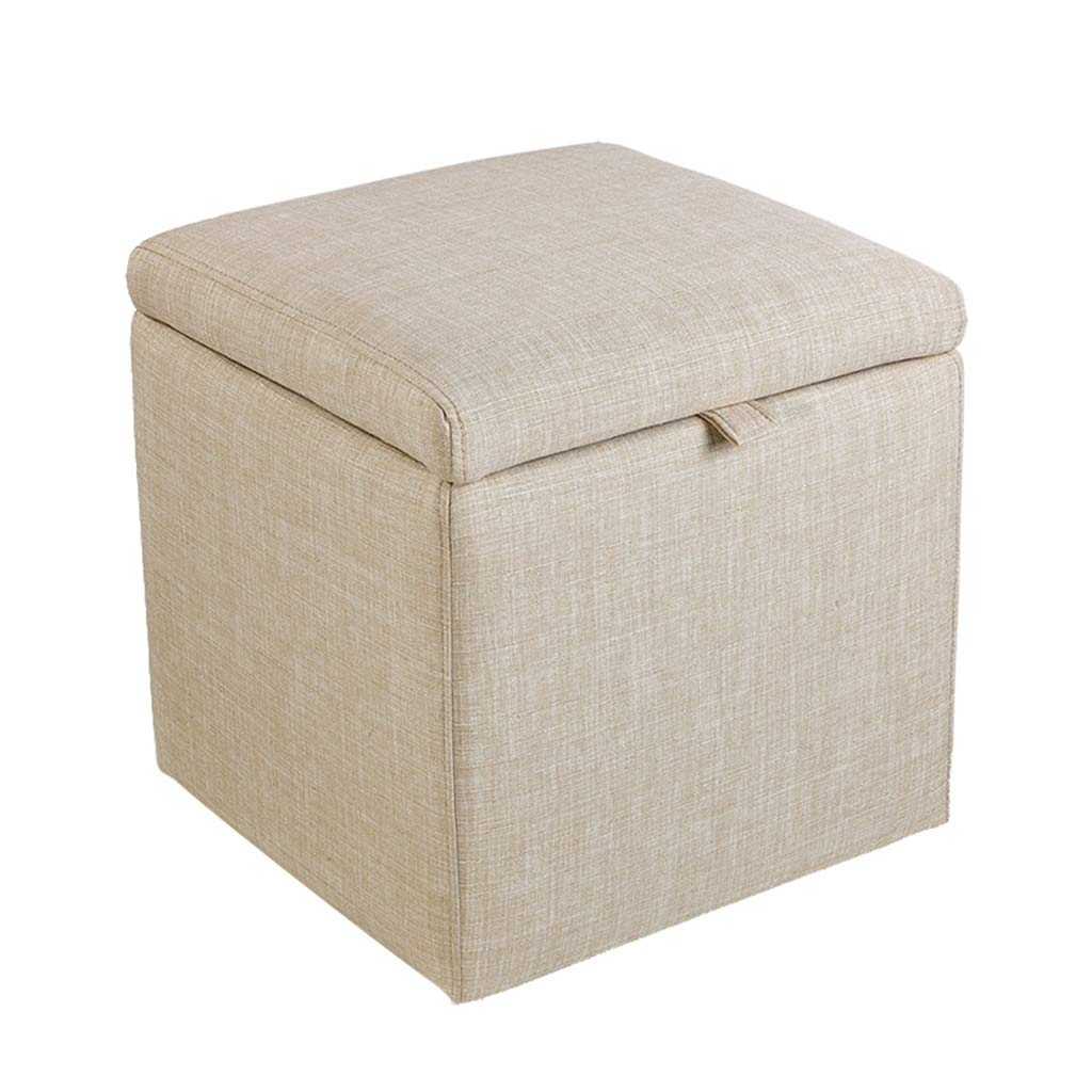 001 16.92×16.92×17.71  TYJY Fabric Storage Stool, Small Sofa Bench, Bedside Stool, shoes Bench (color    002, Size   16.92×16.92×17.71 )