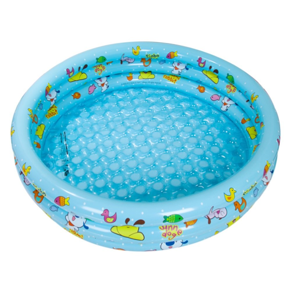 Inflatable Swimming Pool Baby Fishing Pool Bath Plate Children's Paddling Pool Marine Ball 100, Blue / Pink / Yellow, 130 35cm ( Color : Blue ) by Fenfen