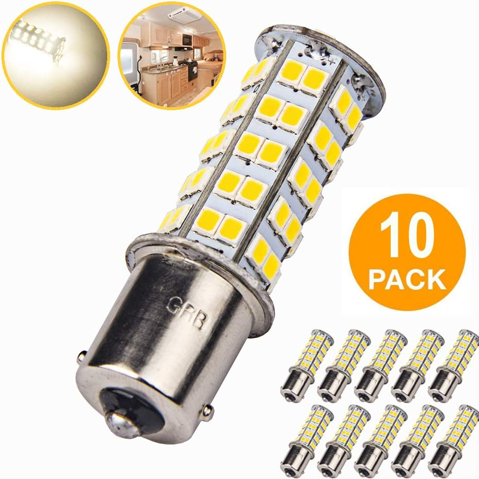 10X Super White 1156 Interior Light RV Camper Trailer 27 SMD LED 1141 1003 Bulbs