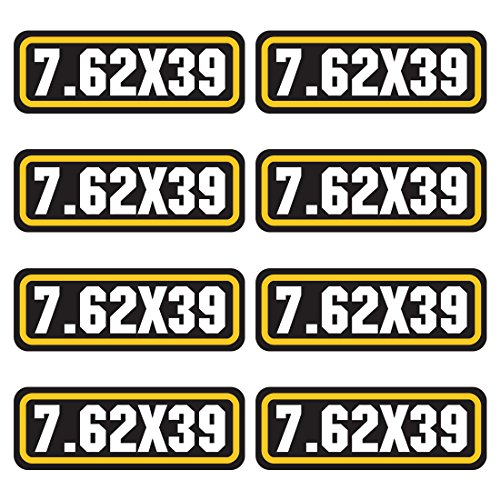 AZ House of Graphics 7.62x39 Ammo Sticker 8 Pack