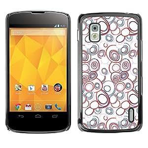 - Abstract Soap Bubble Red Blue White/ Duro Snap en el tel??fono celular de la cubierta - Cao - For LG Nexus 4 E960