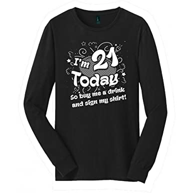 21st Birthday Long Sleeved Shirt