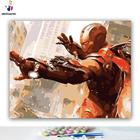 Avengers 16X20 Inch JUST CANVAS DoMyArt Diy Oil Painting Paint By Number Kit
