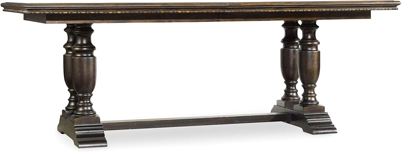 Hooker Furniture Treviso Extendable Trestle Dining Table in Macchiato