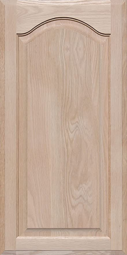 Unfinished Oak Square Flat Panel Cabinet Door by Kendor 22H x 15W