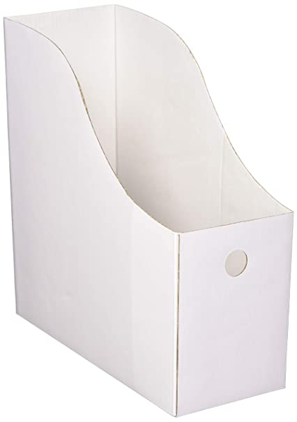 Attrayant Evelots Set Of 6 Magazine File Holders Desk Organizer, File Storage With  Labels, White