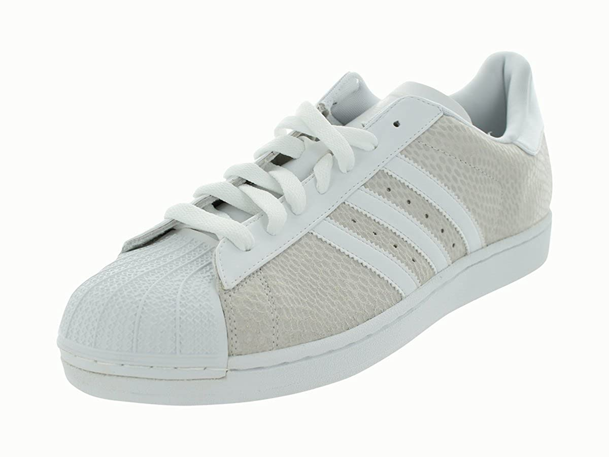 lowest price b911d 92515 Amazon.com   adidas Men s 677862 Superstar 1 Reptile Sneaker, Cream White,  11.5 D(M) US   Basketball