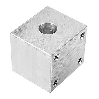 Aluminum Alloy T8 Lead Screw Nut Housing Bracket for T8 Screw Brass Nut Housing 30 * 30 * 34mm