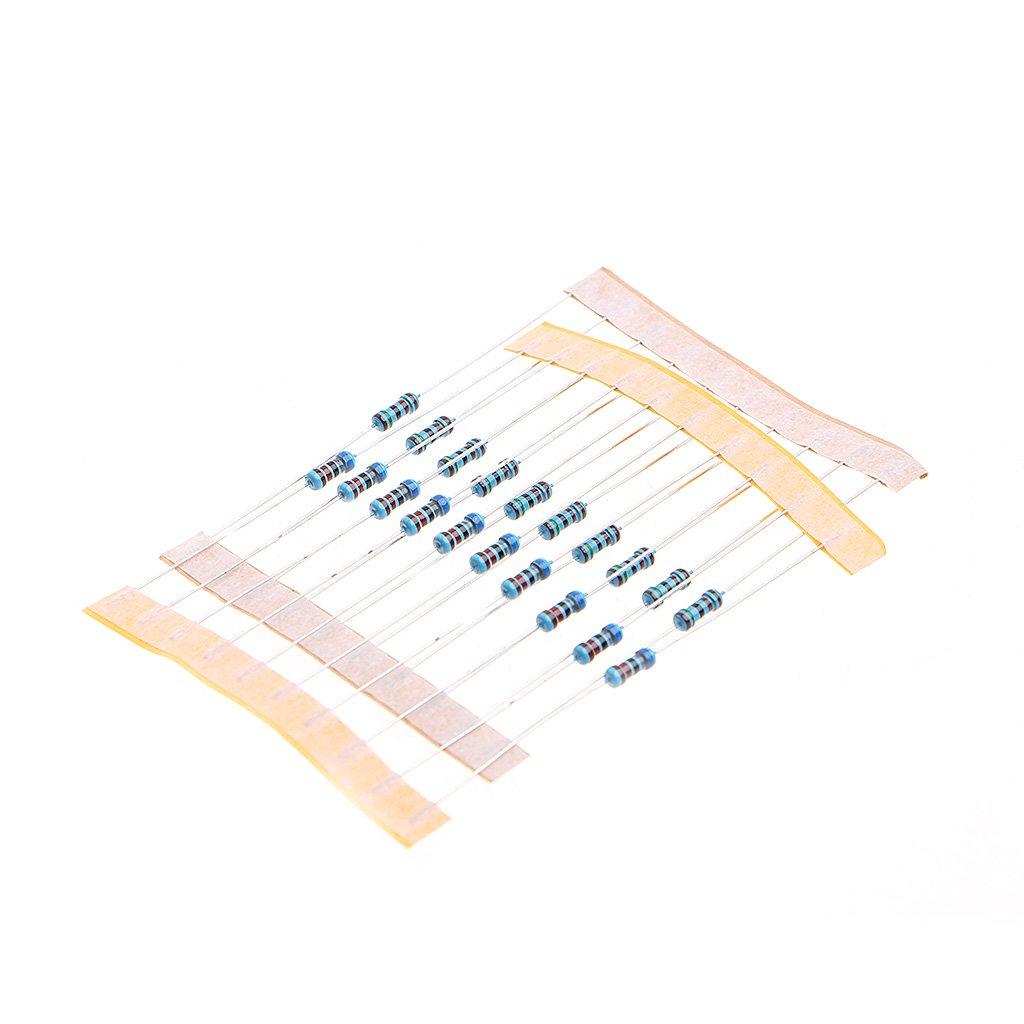 10M Ohm 4W Pacchetto Resistenza resistore a Film Metallico Kit Accessorio 1 Ohm KINTRADE 560 56 Tipi di Resistenza Ogni 10 1