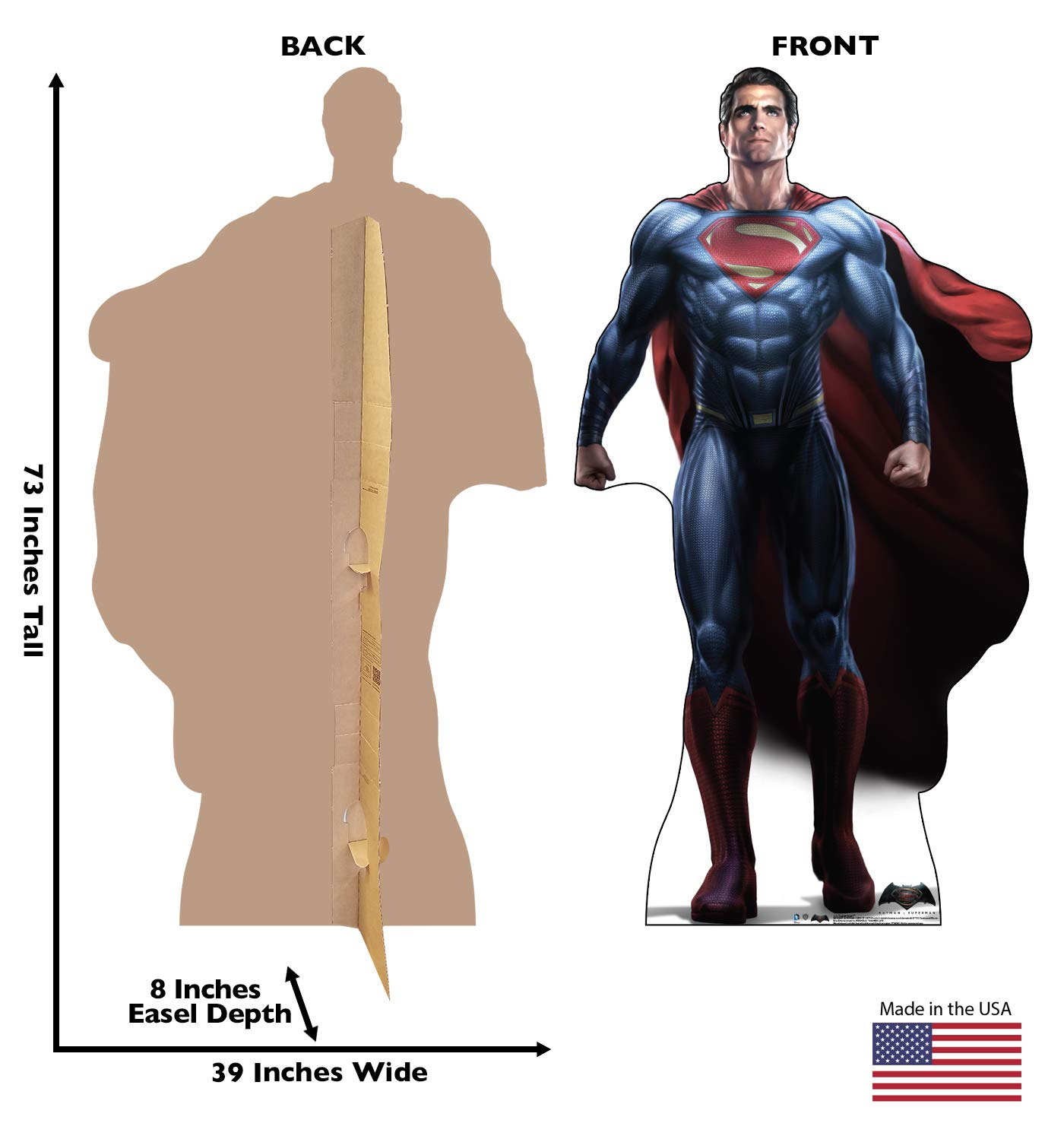 Advanced Graphics Superman Life Size Cardboard Cutout Standup - Batman V Superman: Dawn of Justice (2016) by Advanced Graphics (Image #2)