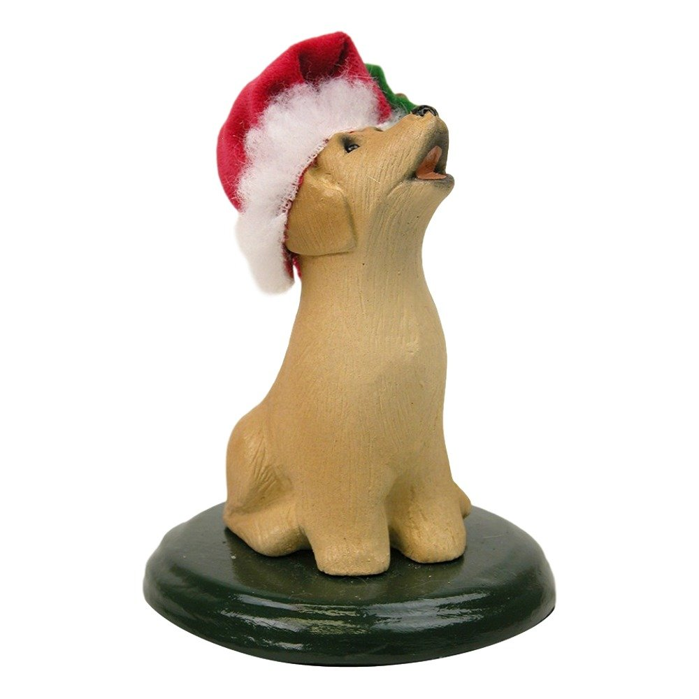 The Carolers Labrador Dog Figurine Color Yellow