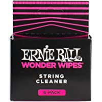 Ernie Ball P04277 Wonder Wipes String Cleaner, 6-Piece, 6 Pieces