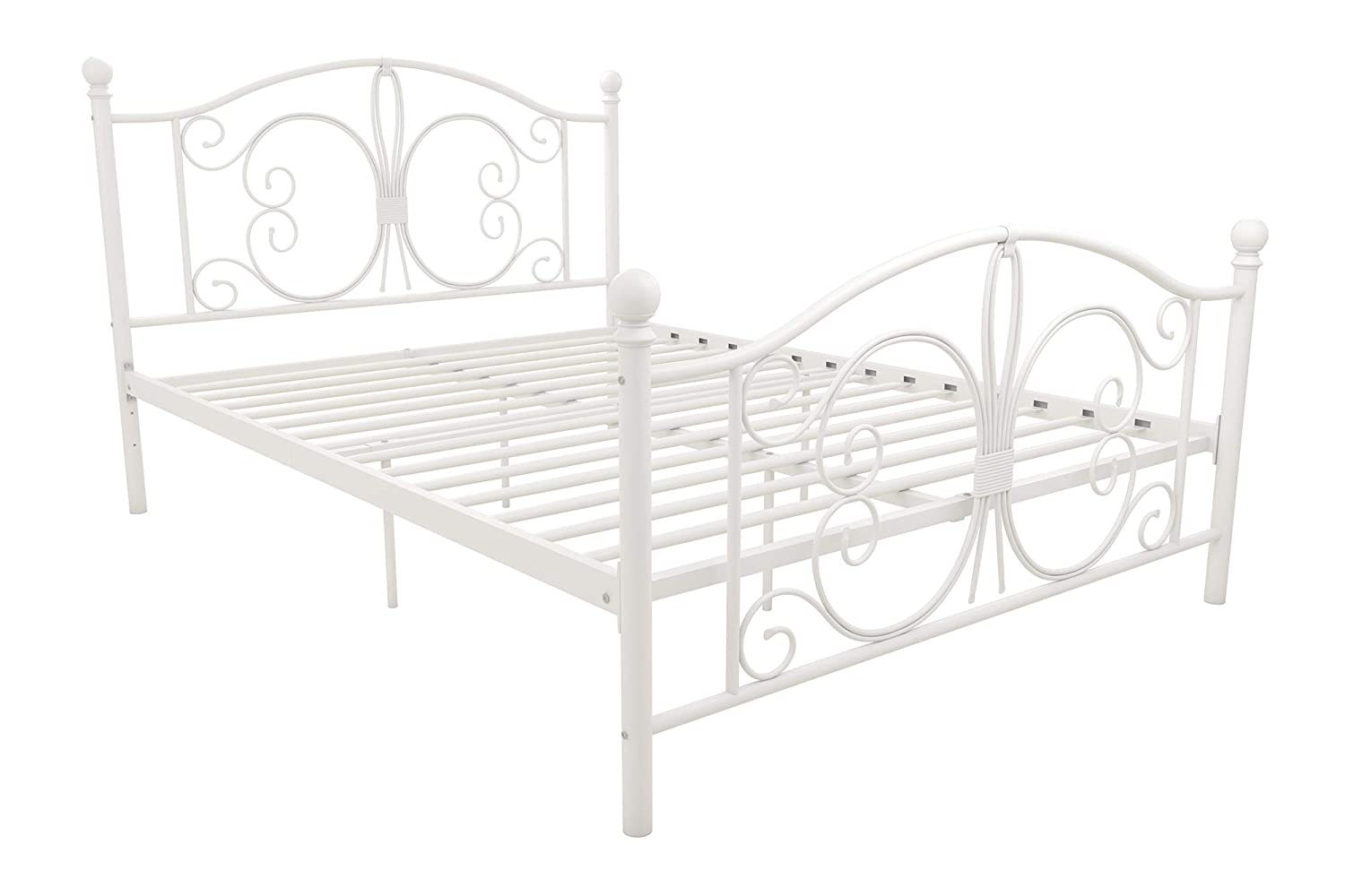 DHP 3246198 Bombay Metal Bed, White, Full Dorel