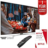 LG SUPER UHD 86 SJ9 4K Smart HDR LED TV with Free $100 Netflix Gift Card Plus 1 Year Warranty Extension