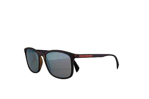 3ed4d017ac Amazon.com  Prada PS01TS Sunglasses Havana Rubber w Grey Mirror ...