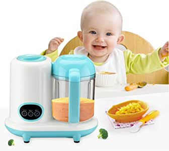 4 en 1 mini Baby nahrungszu Émbolo, shsyue Robot de cocina Forro Vaporera Licuadora para bebé alimentos 1050 ml capacidad Volumen: Amazon.es: Bebé