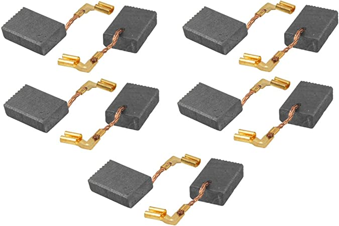 Uxcell a11060200ux0168 Power Tools Motor Carbon Brushes 10 Pcs, 5//8 x 3//8 x 15//64 inch