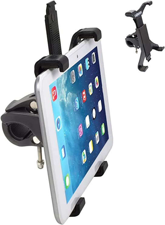 Portable Tablet Holder for Microphone Stand//Treadmill//Exercise Bike Spinning Bike Ipad Holder 360/° Adjustable Ipad Bike Mount for Tablet 4.7-12.9Inch