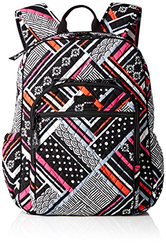 Women's Campus Tech Backpack, Signature Cotton, Northern Stripes by Vera Bradley